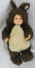 "Anne Geddes 18"" Baby Doll Squirrel Brown Weighted Bean Plush Stuffed Animal Toy"