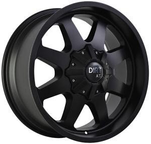 Dirt D80 9x20 8x165,1 Cerchioni Per Dodge RAM 2500 Hummer H1 H2 Nuovo