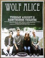 WOLF ALICE 2015 Gig POSTER Portland Oregon Concert