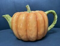 Vintage Otagiri Japan Hand Painted Ceramic Pumpkin Teapot