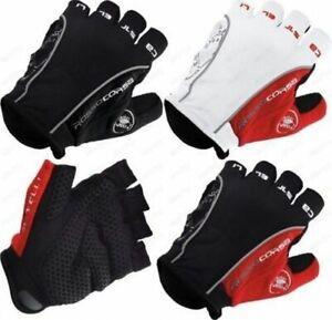 Castelli Rosso Corsa Bike Cycling Gloves Half Finger Mountain Bike Gloves