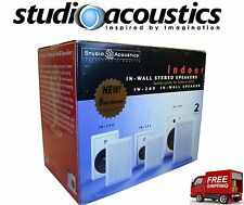 ♫♫♫ In-Wall Stereo Speakers - 100W Indoor/Outdoor ~ Studio Acoustics IW-280 NEW
