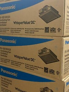 1 Panasonic FV-0510VS1 WhisperValue Wall or Ceiling Mount 50-80-100 CFM Vent Fan