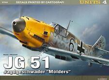 WW2 German JG 51 Jagdgeschwader Molders Kagero Units 4 Reference Book