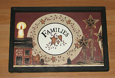 Family Families Star Pottery Bless this Home WALL DECOR  9X 13 Primitive Country