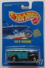 1992 Hot Wheels '40's Woodie Col. #217 (New Paint Style Card)