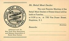 The Retail Meat Dealers of Staten Island, Stapleton, Staten Island NY