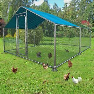 ALEKO Metal DIY Walk-in Chicken Coop or Chicken Run with Cover 13 x 10 Feet