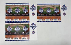 2015 World Series KC Royals Vs NY Mets Full Ticket Strip Game 3, 4, 5 Citi Field