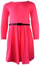 Vêtements roses habillée à manches longues pour fille de 2 à 16 ans