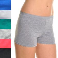 Angelina Lot of 6, 12 Solid Boyshort Panties Underwear Grey Blue Black G3317 IW