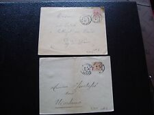 FRANCE - 2 enveloppes 1901/1902 (cy99) french