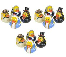 12 Count Us Historical Figure Style Rubber Ducks 2 Inches Tall Toy Prank Gag