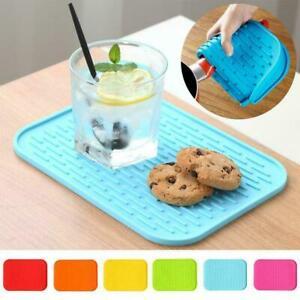 Silicone Non-Slip Heat Resistant Placemat Mat Children Pads Kitchen Desk F2P6