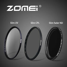 77mm slim UV&Fader ND2-400&CPL filters Set For Digital Camera  Novice Essentials