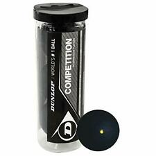 Durable Vacuum Sealed Dunlop Competition Squash 3 Balls Tube - Easy to Carry
