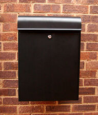 High Security Black Steel Large Capacity Secure Parcel Post Box Letter Box