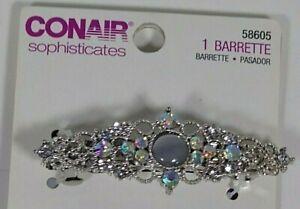 Conair Sophisticates Jeweled Barrette w/ Center Stone/Rhinestones #58605