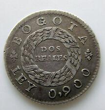 Colombia 1849 (2) Dos Reales KM # 105 Scarce Nueva Granada