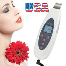 2017 USA Ultrasonic LCD Digital Facial Skin Scrubber Peeling Cleaners Firm Tool