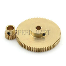 0.5M80-20T Module 0.5 Motor Metal Gear Wheel Set Kit Ratio 4:1 Wheelbase 25mm