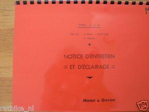 M0701 MONET-GOYON---NOTICE D'ENTRETIEN ET D'ECLAIRAGE TYPE---S3G 100cc 2TEMPS PI