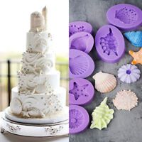 3D Ocean Sea Silicone Mold Fondant Chocaolate Candy Cake Decorating Baking Mould