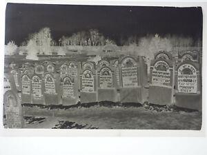 originales Negativ Jüdischer Friedhof Juden Judaika 6x9cm