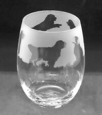 More details for golden retriever frieze boxed 36cl crystal stemless wine / water glass