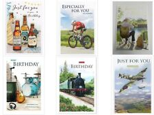 Male Themed Birthday Cards - choose design