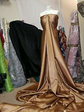 2M copper gold SATIN FABRIC  BACK CREPE 58 iches WIDE