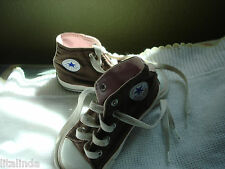 CONVERSE ALL STAR KIDS SNEAKER SIZE 7  BROWN AND PINK PRE-OWNED