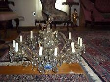 Big, Antique Fountain Crystal Chandelier - Art Deco