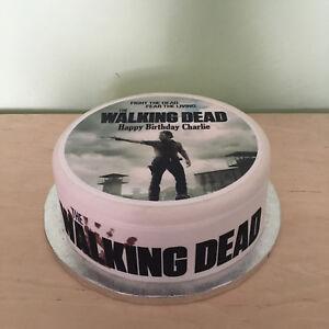Walking Dead 01 pre-cut Edible Icing Cake Topper or Ribbon