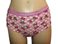 NEW LADIES EX STORE PINK DAISY DUCK SHORTS BOY SHORTS KNICKERS SZ 8 10 12 14