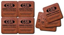 CSR Canning Stock Route Leather Coasters Packaged as a Set of 4 ea