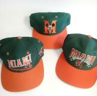 Vintage Miami Hurricanes Hat Ball Cap Lot Trucker Snapback Signature The Game