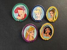 Cast Lanyard Series 3 Ariel Aurora Belle Jasmine Cinderella 5 Disney Pins 33189