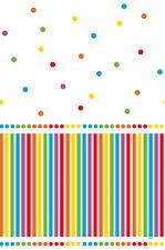 Unique Party Rainbow Plastic Tablecloth 7ft X 4.5ft
