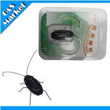Nice Solar Power Energy Educational Black Cockroach Bug Toy Children Gift