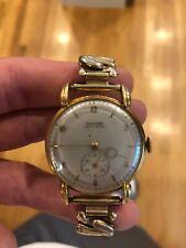 Glycine Bienne - Geneve 18k solid gold antique watch runs great!