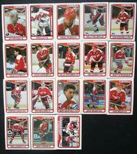 1990-91 Topps Washington Capitals Team Set of 18 Hockey Cards