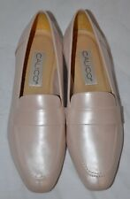 New in Box Rare Women's Calico Brand Pearlescent Pink Leather Loafers Size 8M