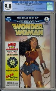 WONDER WOMAN FCBD 2017 SPECIAL EDTION #1 - CGC 9.8 - MADNESS VARIANT -3695181016