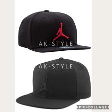Nike Air Jordan Jumpman Cap Hat Black LUX Snapback Logo Original Flat Brim Adult