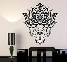 Vinyl Wall Decal Art Lotus Flower Yoga Center Meditation Room Stickers (1164ig)