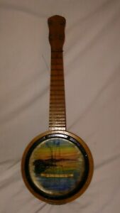 Vintage 4 String Banjo Ukulele Banjolele Project Wallhanger!  NO RESERVE!