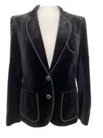 Vintage MANSFIELD Black Velvet Evening Jacket Blazer Smart UK 10