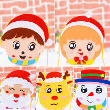 Christmas DIY Felt Fabric Craft Kit Handmade Handbag Toy Kids Kindergarten Gift