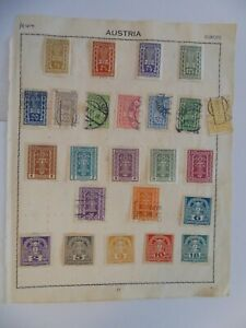 PA 414 - Double Sided Page Of Mixed Austria Stamps